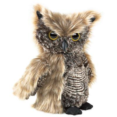 Screetch Owl Turning Head Puppet by Folkmanis - 2961 (Owl Babies Puppets)
