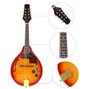 Fdit 8 String Mandolin, Mandolin,8 String Mandolin Musical Instrument Sunburst A Style Acoustic Electric Mandolin
