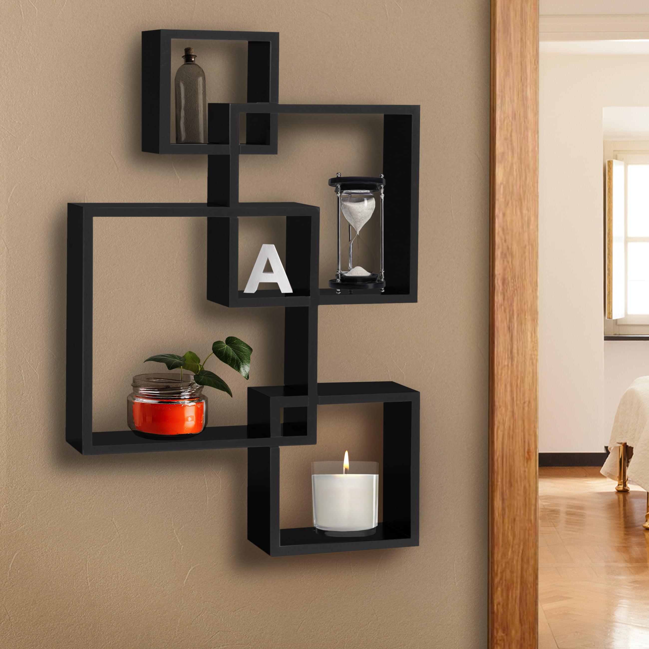 "Floating Wall Shelves floating wall shelf, black, 48""w - walmart"