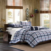 Home Essence Teen Lance Plaid Duvet Cover Bedding Set