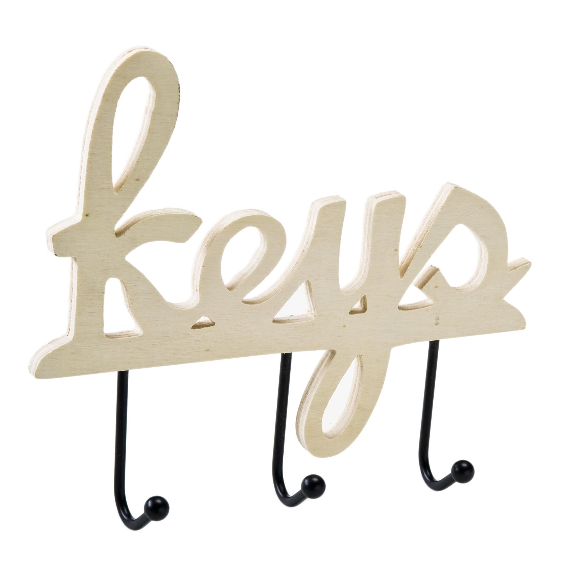 Plaid Wood Plaque, Key Holder