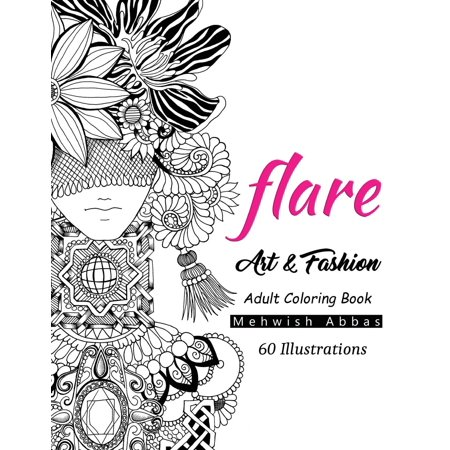 LOOK Fashion Adult Coloring Book