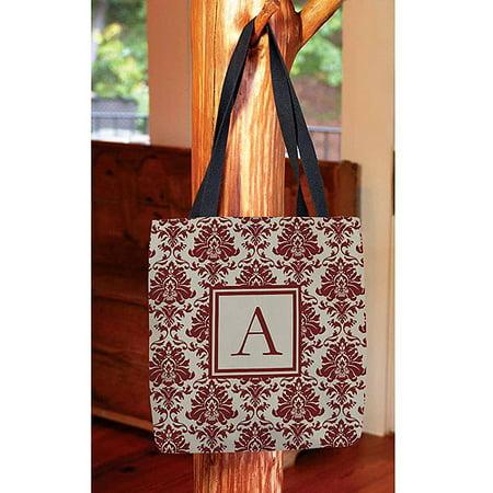 - Damask Monogram Tote Bag