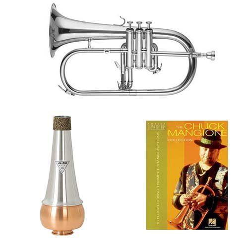 Band Directors Choice Bb Intermediate Flugelhorn w Mute & Chuck Mangione Book by Band Directors Choice Flugelhorns