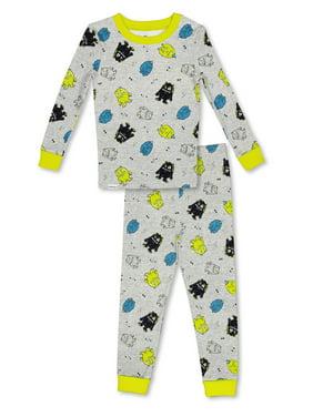 FREE 2 DREAM Pajama Set, 2 Piece Cotton PJ Set, Long Sleeve Long Pant, Natural Cotton, Kid's Sizes 3T to 10