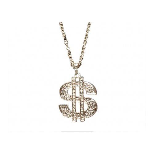 Sunnywood 3706S Sunnywood Novelty Dollar Sign Necklace
