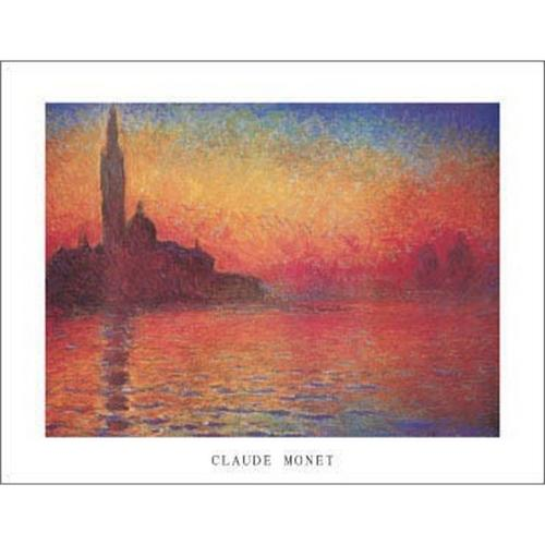 Dusk, Crepusculo Poster Print by Claude Monet (14 x 11)