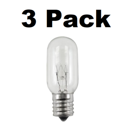 - Three Bulbs 25T8N Clear 25 Watt 130 Volt E17 Intermediate Base 25W Microwave