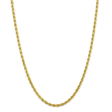 - Solid 10k Yellow Gold Big Heavy 4mm Diamond-Cut Rope Chain Necklace 18