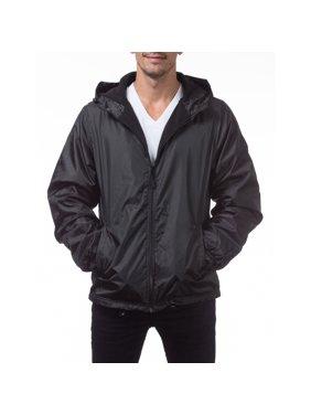 1c150c92d Product Image Pro Club Men's Fleece Lined Windbreaker Jacket, Small, Black
