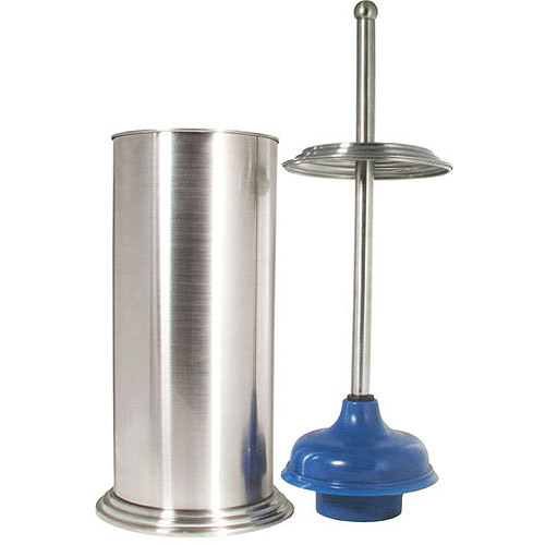 Exquisite Ashton Plunger and Canister, Brushed Nickel