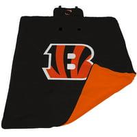 Cincinnati Bengals 60'' x 80'' All-Weather XL Outdoor Blanket - Black - No Size