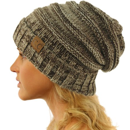 1f85cb39a88ee SK Hat Shop - CC Winter Trendy Warm Oversized Chunky Baggy Stretchy Slouchy  Skully Beanie Hat - Walmart.com
