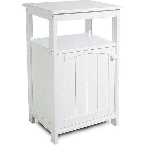 telephone stand/bathroom cabinet, white - walmart