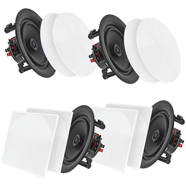 Pyle Home PDICBT266 6.5 in. Bluetooth Ceiling or Wall Flush Mount Home Speaker Kit - Pack of 4 - image 1 de 1