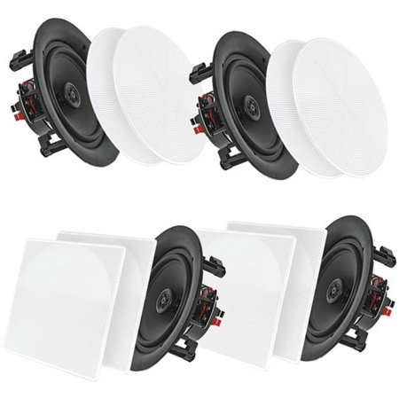 Home  6.5 in. Bluetooth Ceiling or Wall Flush Mount Home Speaker Kit - Pack of - Ceiling Speaker Mounting Kit