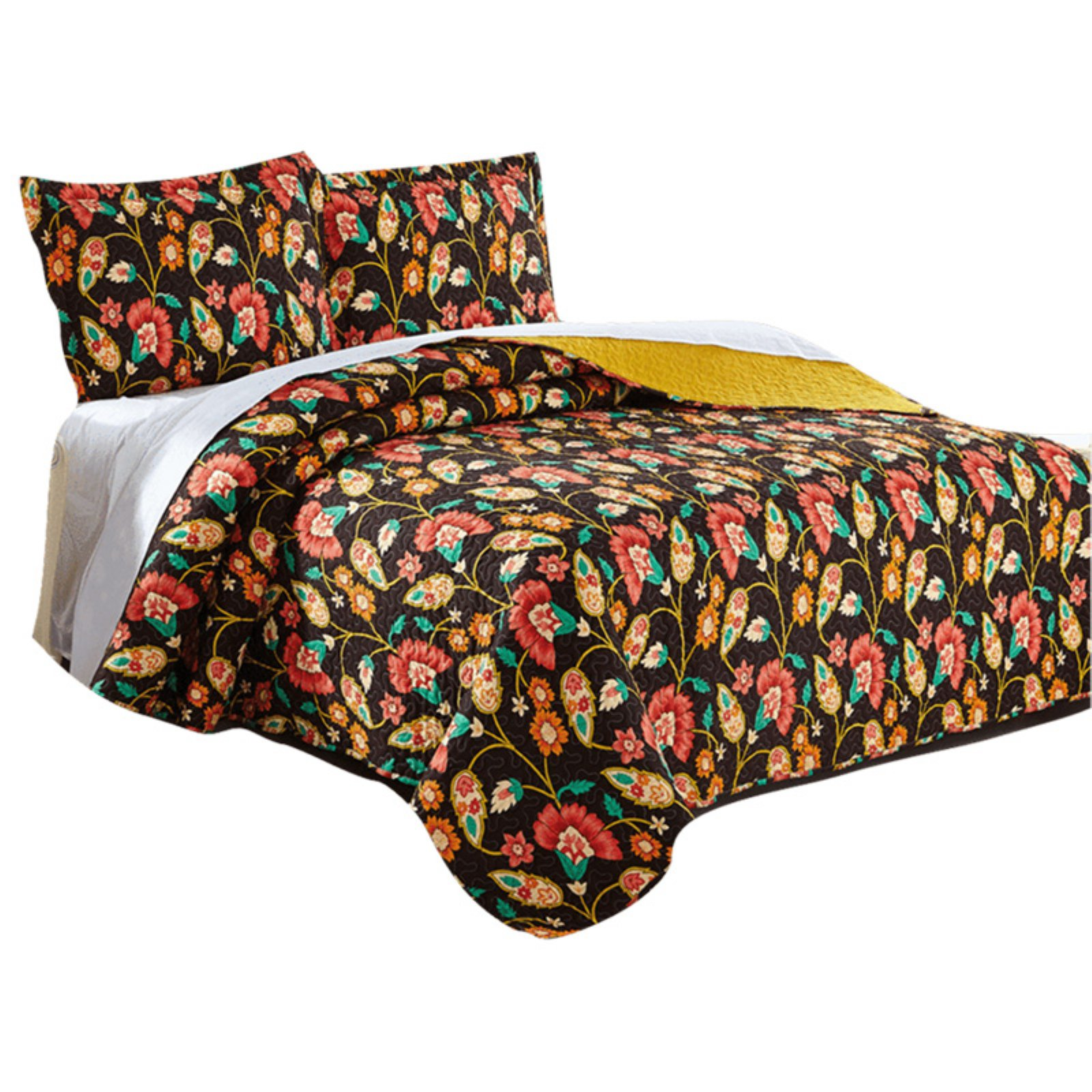 Marigolds Quilted Bedspread Set by DaDa Bedding Collection