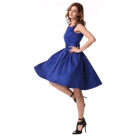 Sexy Lady Women Dress Sleeveless O-neck Stretch Stylish Dress