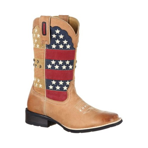 """Durango DRD0191 Womens Brown 12"""" Broad Square Toe Western Boots 10M by"""