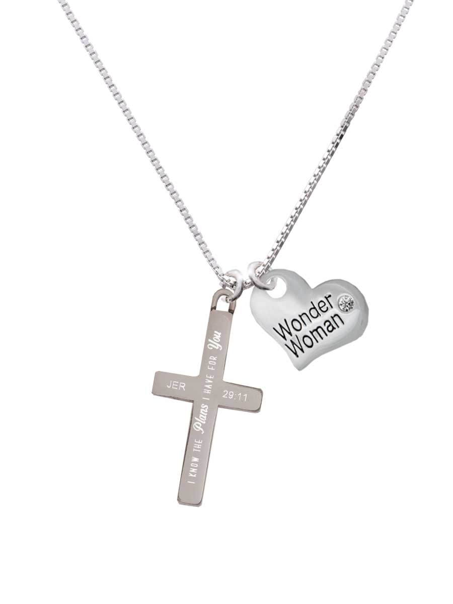 14K Rose Gold-plated 925 Silver Floral Cross Pendant with 16 Necklace Jewels Obsession Cross Necklace