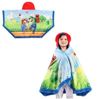 """Super Mario Super Soft and Cozy Snuggle Wrap Hoodie Blanket, 55"""" x 31"""""""