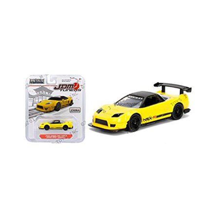 JADA 1:64 METALS - JDM TUNERS - 2002 HONDA NSX TYPE-R JAPAN SPEC WIDEBODY YELLOW DIECAST TOY CAR 98345-MJ, Model : 98345-MJ By New Jada From USA