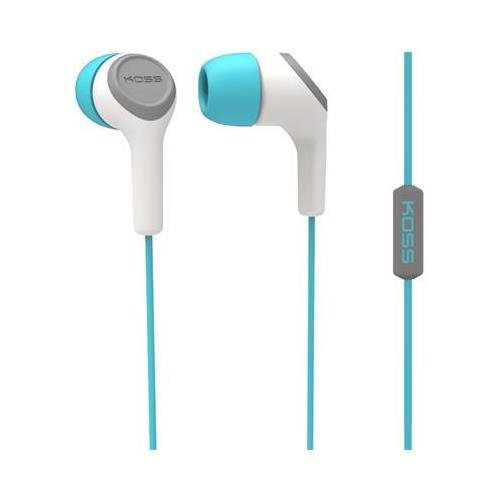 Koss 187238 Teal InEar Bud with Mic Noise_Isolating Headphones by Koss