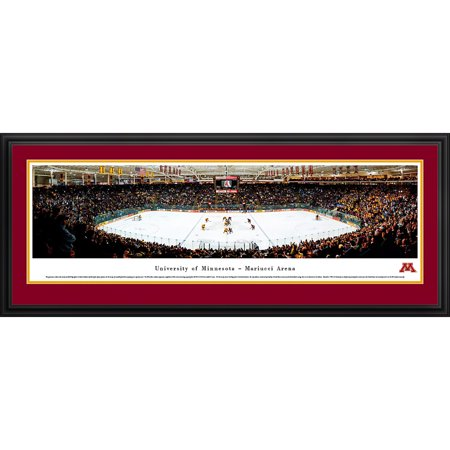 Framed Sports Memorabilia (Minnesota Gopher Hockey at Mariucci Arena - Blakeway Panoramas NCAA College Print with Deluxe Frame and Double Mat)