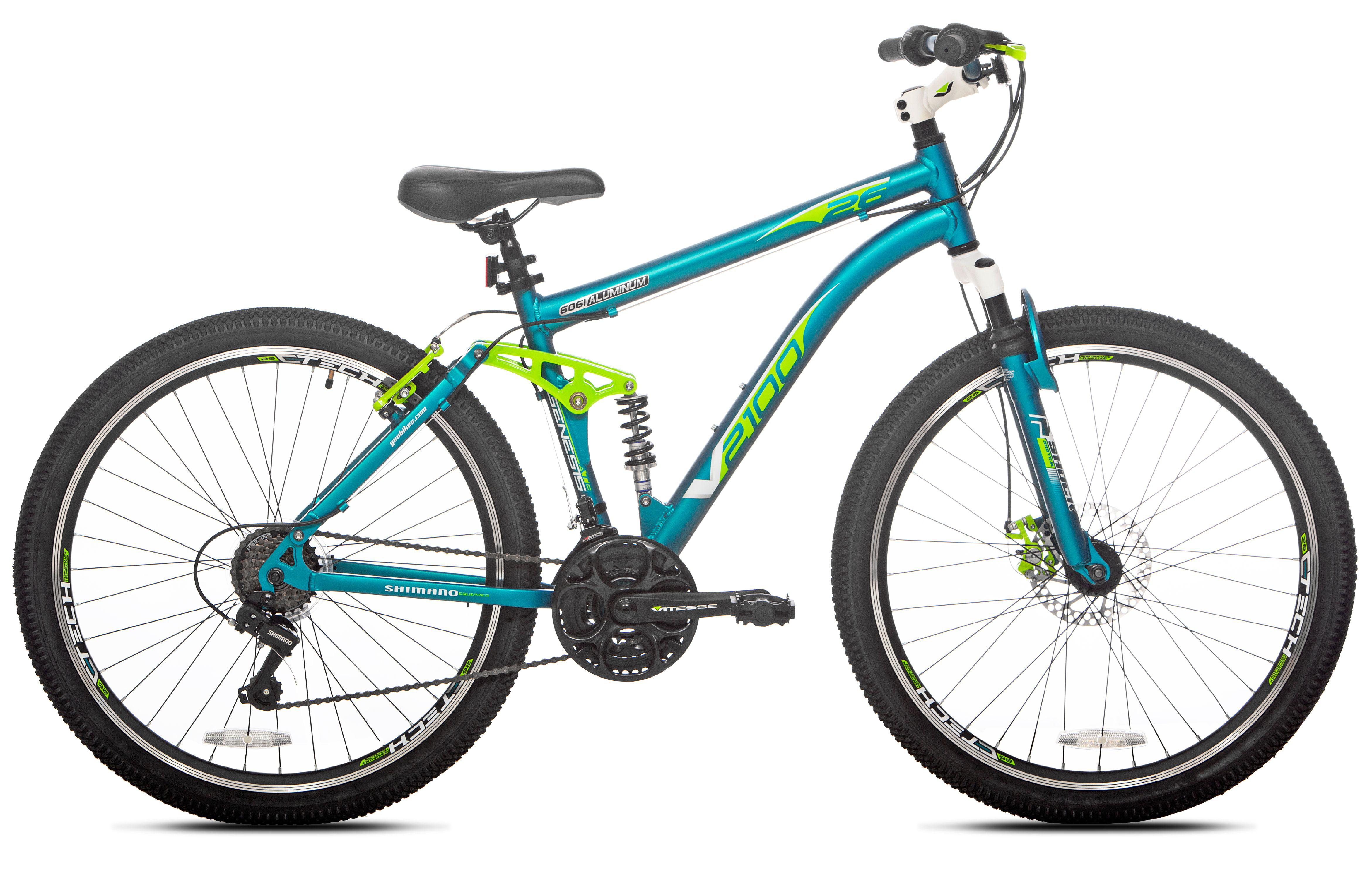"Genesis 26/"" V2100 Women/'s Mountain Bike Teal"