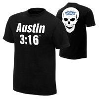 Official WWE Authentic Stone Cold Steve Austin 3:16 Retro T-Shirt Black Small