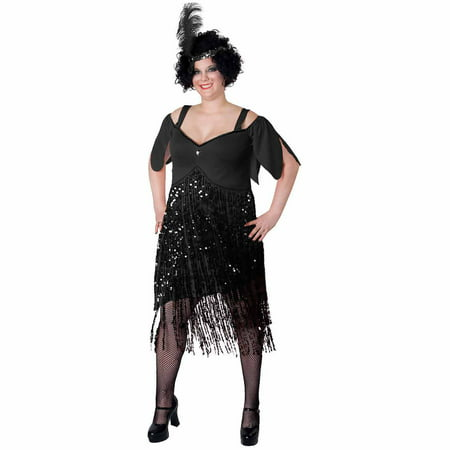 Lava Diva Flapper Women's Plus Size Adult Halloween Costume - French Maid Costumes Plus Size