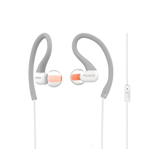 Koss KSC32IGRY Sportclip Headphones with Mic Grey by Koss