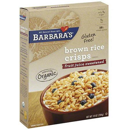 Barbaras Brown Rice Crisps Cereal  10 Oz  Pack Of 6