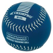 CHAMPRO SPORTS Training Softball, Weighted 10oz Blue Leather Ball CSB710 by Champro Sports