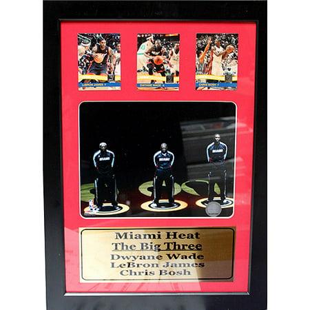 NBA Miami Heat Big 3 3-Card Deluxe Frame, 12x18