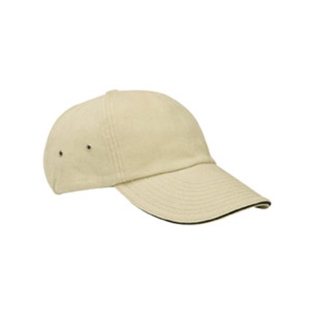 Image of Adams 6-Panel Low-Profile Ultra Heavyweight Brushed Twill Sandwich Cap CT102