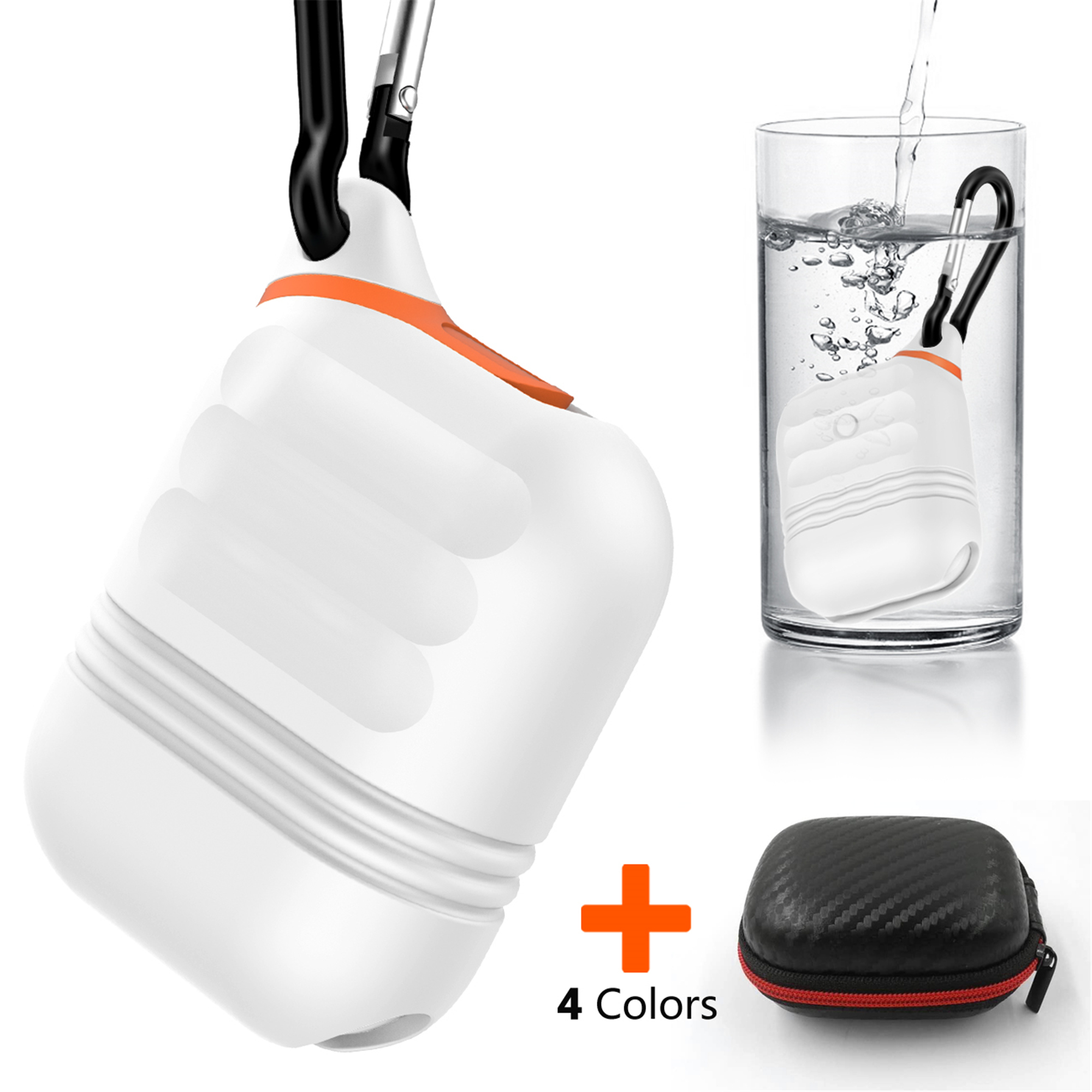 Moretek Airpods Cover Case, Waterproof Carrying Cases for Apply AirPods Gift for Thanksgiving/Christmas/New Year/Birthday (Black)