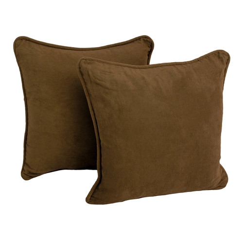 Blazing Needles Micro Suede Throw Pillow (Set of Two)