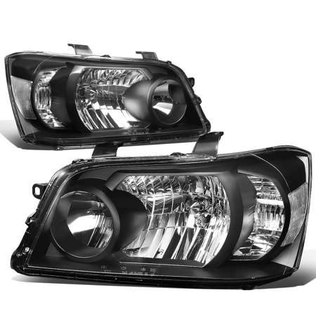 For 2004 to 2006 toyota Highlander Projector Headlight Black Housing Clear Corner Headlamp 05 Left+Right