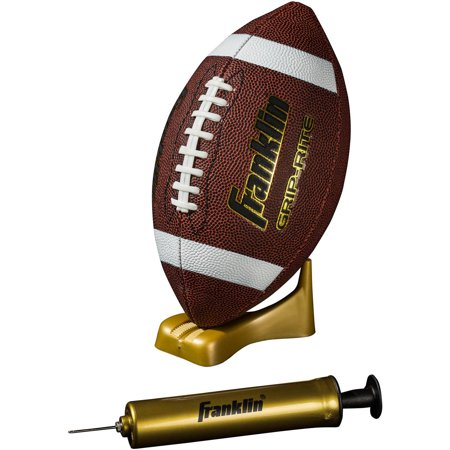 Franklin Sports Grip-Rite Pump and Tee Football Set, Official