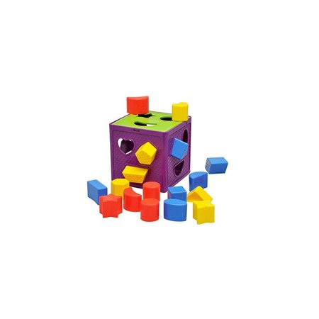 Early Childhood Learning Baby Toys Activity Cube-Plastic Geometric Square  Shape Sorter Cube,Color Recognition Intelligence Toys Bricks/Toys Brocks |