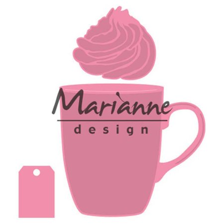 Marianne Design Collectables Hot Chocolate Mug + FREE DIE