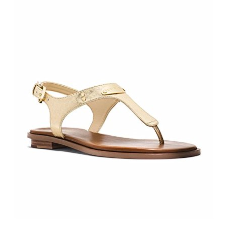 b9b76d21911 MICHAEL Michael Kors - New Michael By Michael Kors MK Plate Thong Pale Gold  Womens Sandals - Walmart.com