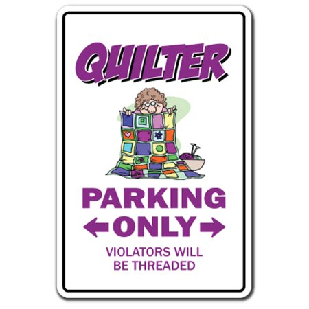 """QUILTER Parking Decal quilting sewing circle group quilt 