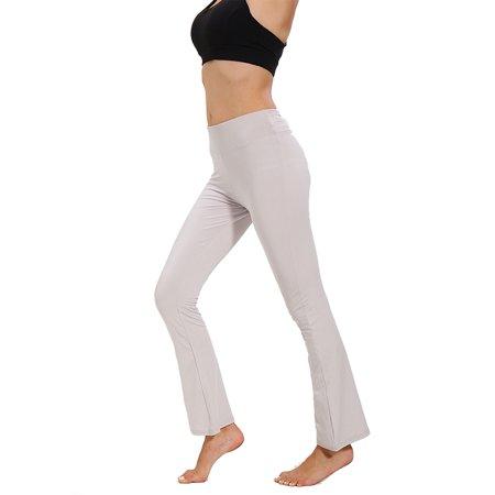 Women Slim Wide Leg Pants High Waist Yoga Pilates Casual Leggings Gym Stretch Sport Stretch Excercise Trousers