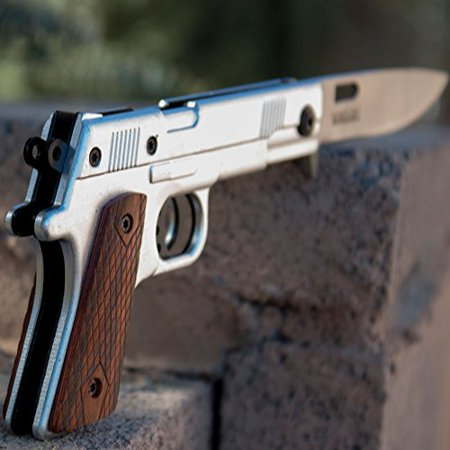 Best Spring Assisted Folding Gun Knife - Beautiful 1911 Handgun Design - Perfect Pocket Knife and Gift Idea for Men or Best (Best Self Defense Handguns 2019)