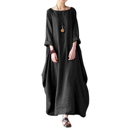 Long Sleeve Loose Baggy Dresses for Women