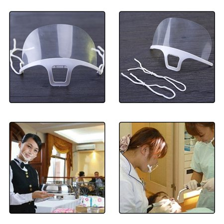 10pcs Disposable Restaurant Servant Anti Fog Plastic Mouth Mask Transparent Shield Mask for Catering Food - image 9 of 9