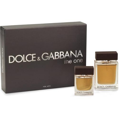 Dolce & Gabbana The One Eau De Toilette Natural Spray Fragrance Gift Set for Men, 2 pc