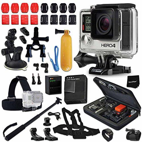 GoPro Hero 4 BLACK Edition Camera KIT + AHDBT-401 Battery...